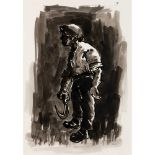 Sir Kyffin Williams O.B.E., R.A. (British 1918-2006) Man with Sickle, circa 1988