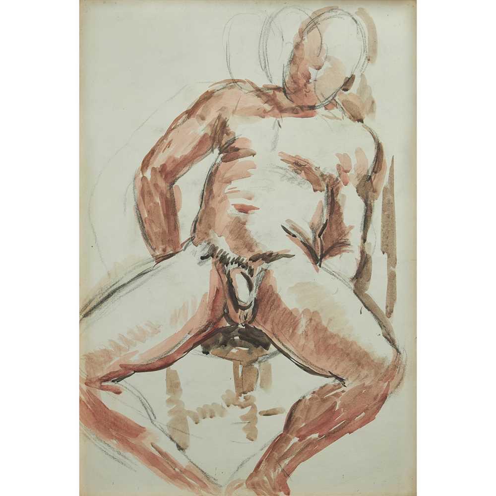 Duncan Grant (British 1885-1978) Male Nude, circa 1950