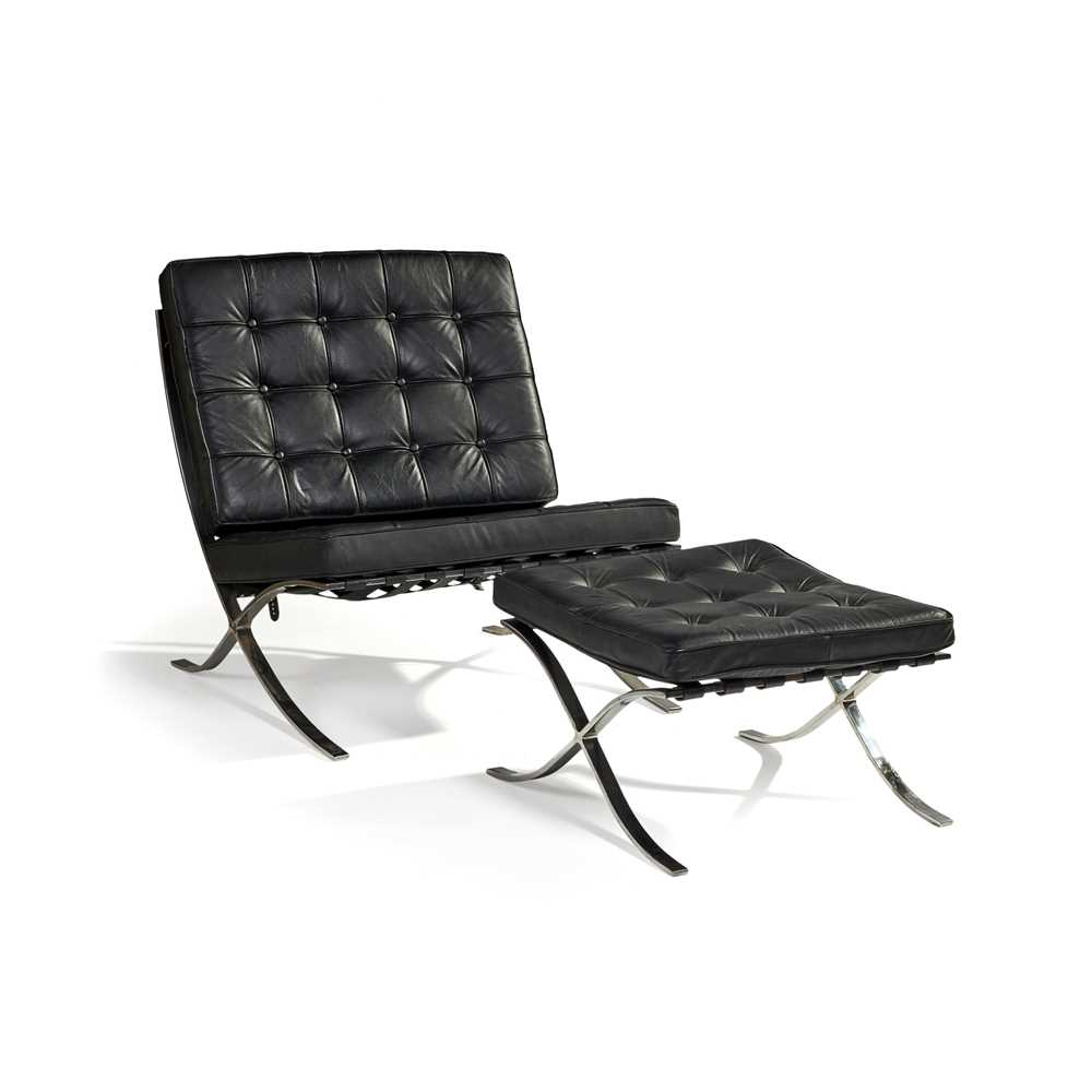 Ludwig Mies van der Rohe (German 1886-1969) Pair of 'Barcelona' Chairs & Ottomans - Image 2 of 25