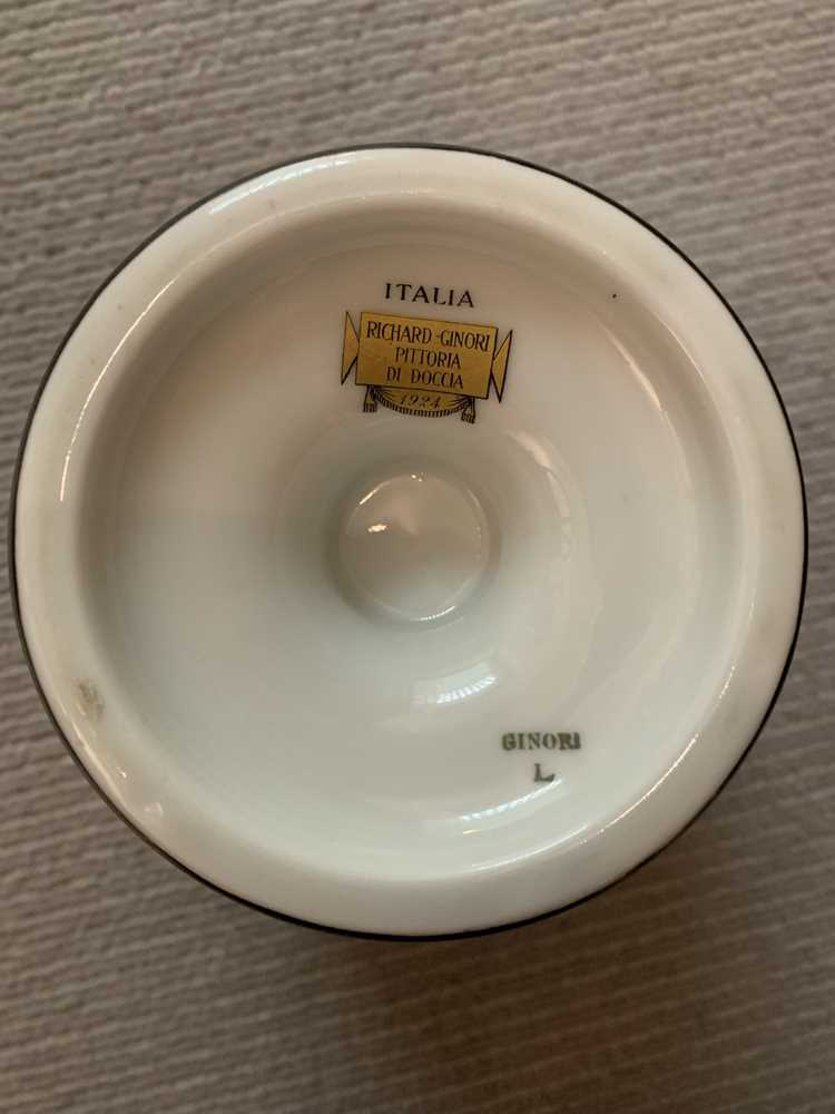 Gio Ponti (Italian 1891-1979) for Richard Ginori 'Funérailles de Thais' Footed Bowl - Image 5 of 9