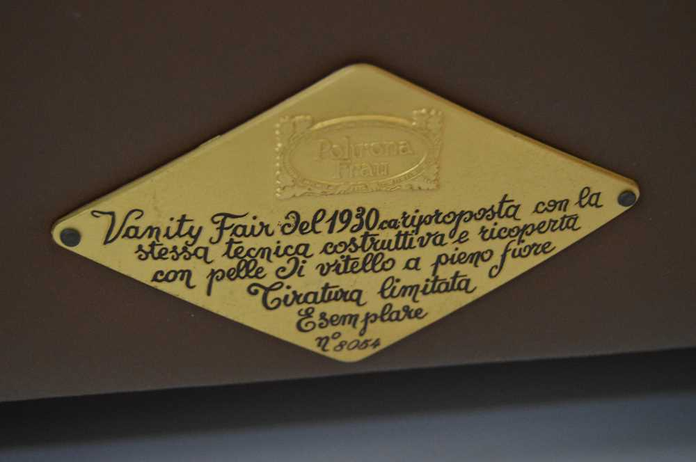 Renzo Frau (Italian 1881-1926) for Poltrona Frau Pair of 'Vanity Fair' Armchairs - Image 15 of 18