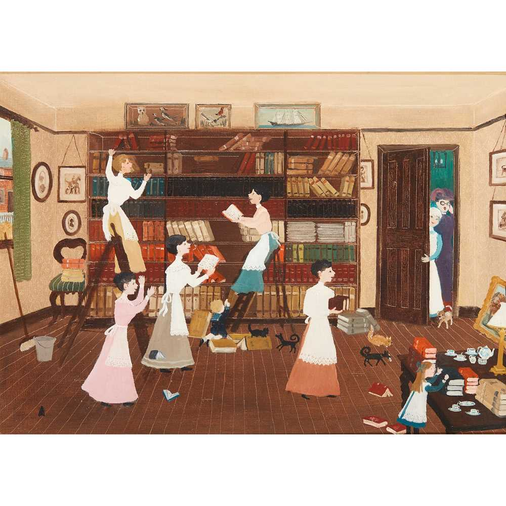 Helen Bradley M.B.E. (British 1900-1979) One Glorious Day Spring Cleaning Began, 1971