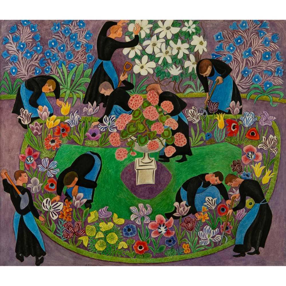 Dom Robert (Guy de Chaunac-Lanzac) (French 1907-1997) Provence Monks Gardening, 1955