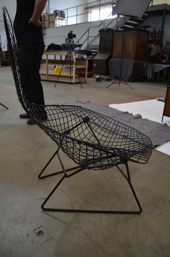 Harry Bertoia (American 1915-1978) Bird Chair and Ottoman, designed 1952 - Image 12 of 13
