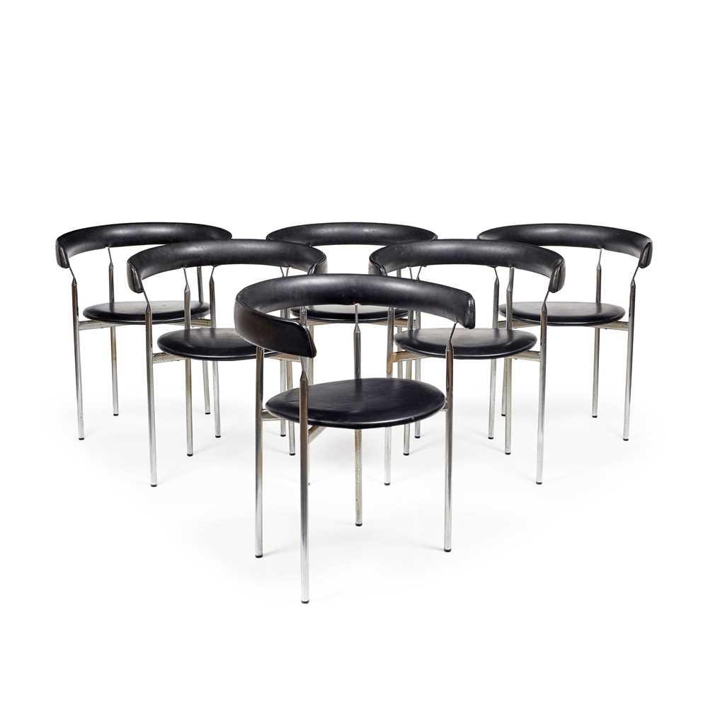 Jan Lunde Knutsen (Norwegian 1922-1990) for Karl Sorlie & Sons Set of Six 'Rondo' Chairs, designed 1