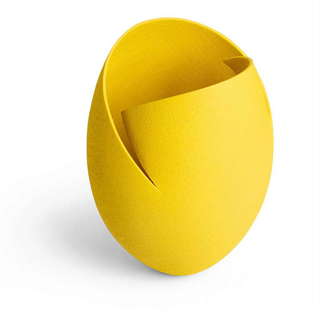 Ashraf Hanna (Egyptian 1967-) Yellow Cut and Altered Vessel - Image 2 of 3