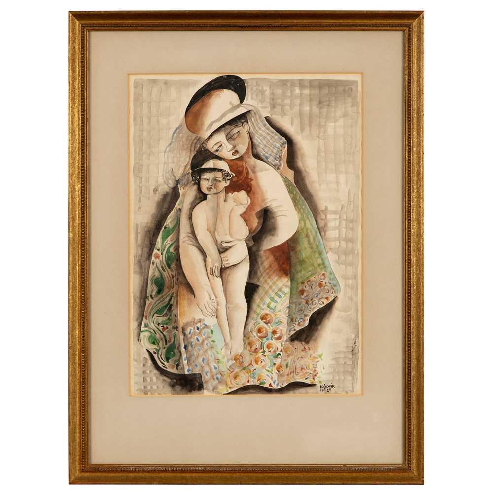 Béla Kádár (Hungarian 1877-1956) Mother and Child - Image 2 of 3