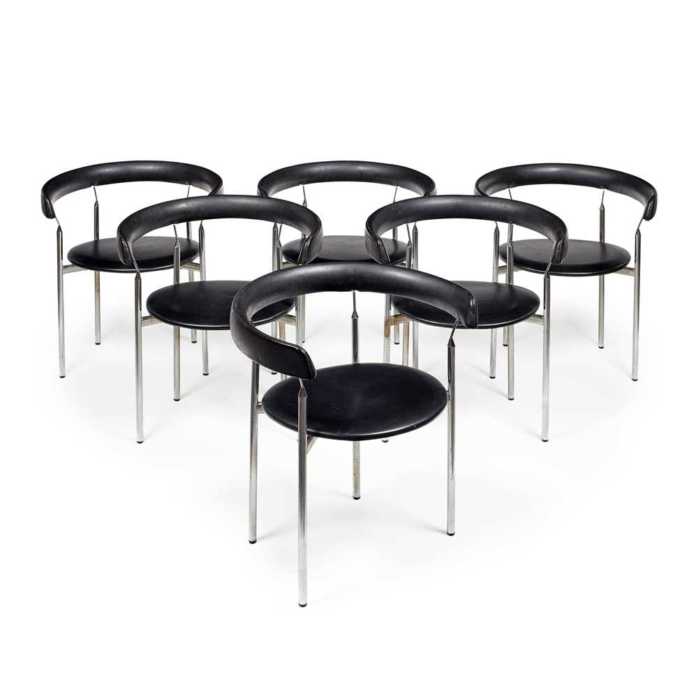 Jan Lunde Knutsen (Norwegian 1922-1990) for Karl Sorlie & Sons Set of Six 'Rondo' Chairs, designed 1 - Image 2 of 11