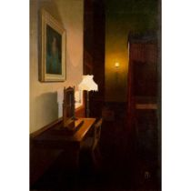 Peter Kelly N.E.A.C. R.B.A. (British 1931-2019) Light and Shadows, Lord Byron's Room, Newstead Abbe
