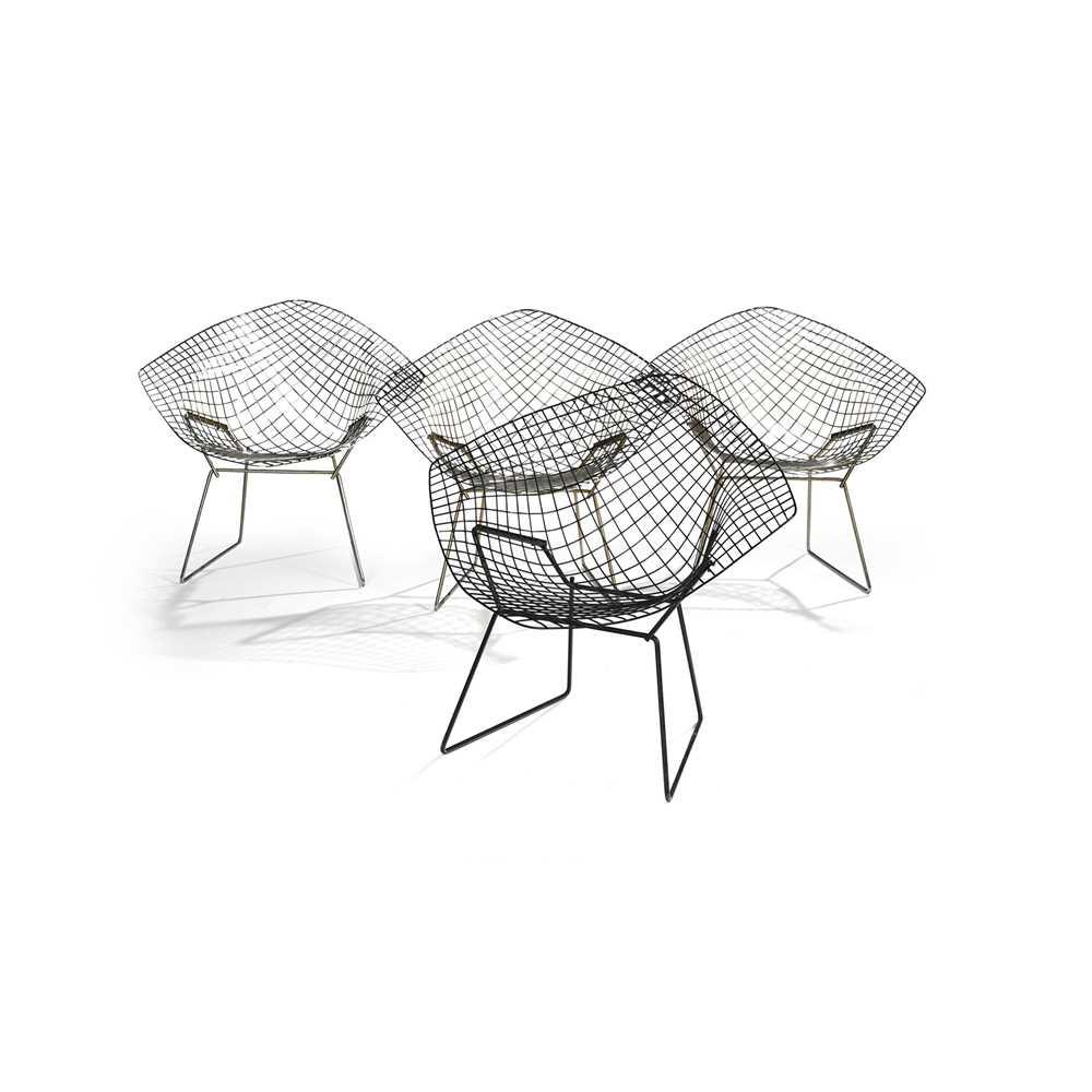 Harry Bertoia (American 1915-1978) Set of Four Diamond Chairs - Image 3 of 13