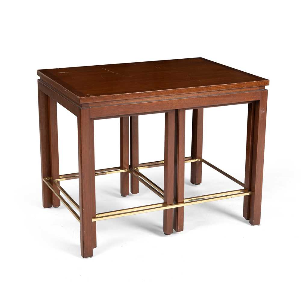 Edward Wormley (American 1907-1995) for Dunbar Nest of Three Tables - Image 3 of 3