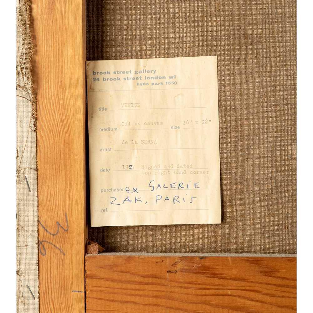 Ismael Gonzales de la Serna (Spanish 1898-1968) The Doorway, Venice, 1924 - Image 4 of 4