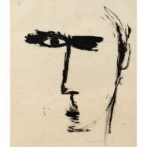William Gear R.A., F.R.S.A., R.B.S.A. (British 1915-1997) Self-Portrait, 1948