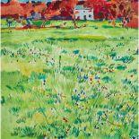 Philip Sutton R.A. (British 1928-) The Field at Manobier, 1984