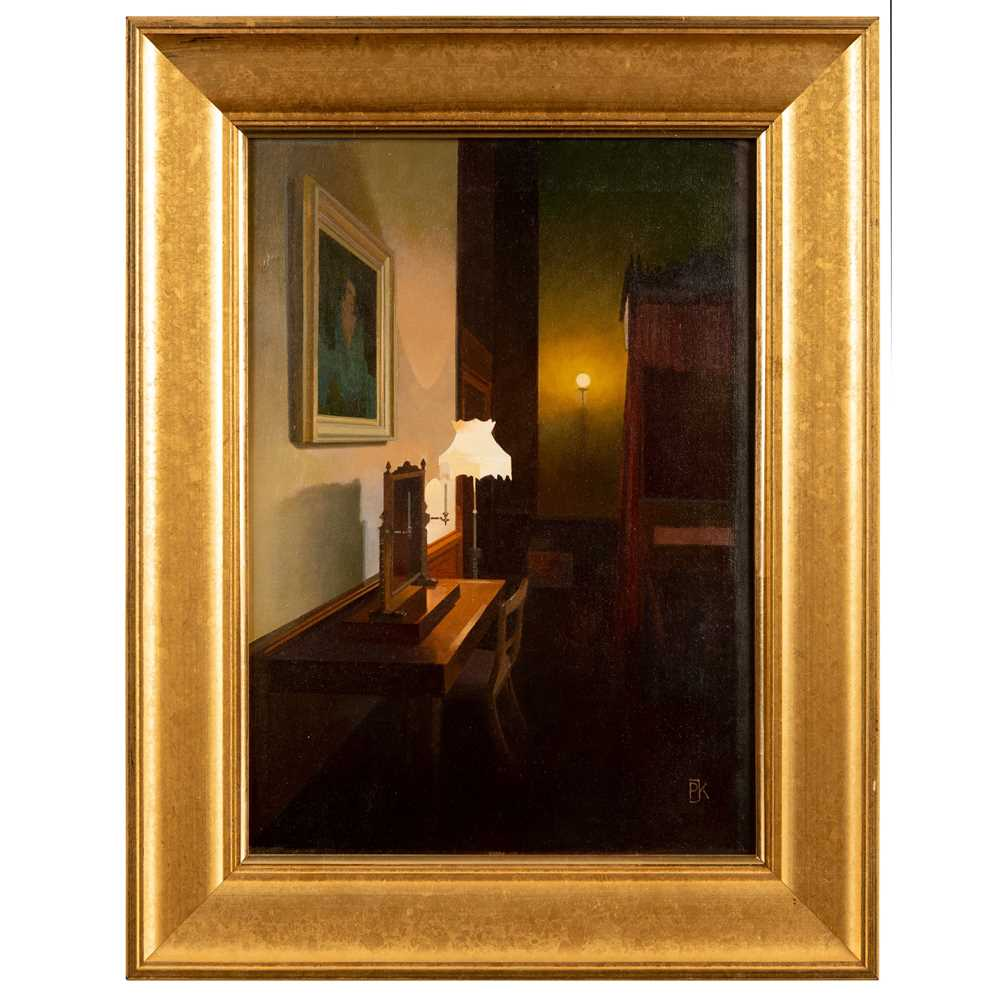 Peter Kelly N.E.A.C. R.B.A. (British 1931-2019) Light and Shadows, Lord Byron's Room, Newstead Abbe - Image 2 of 3