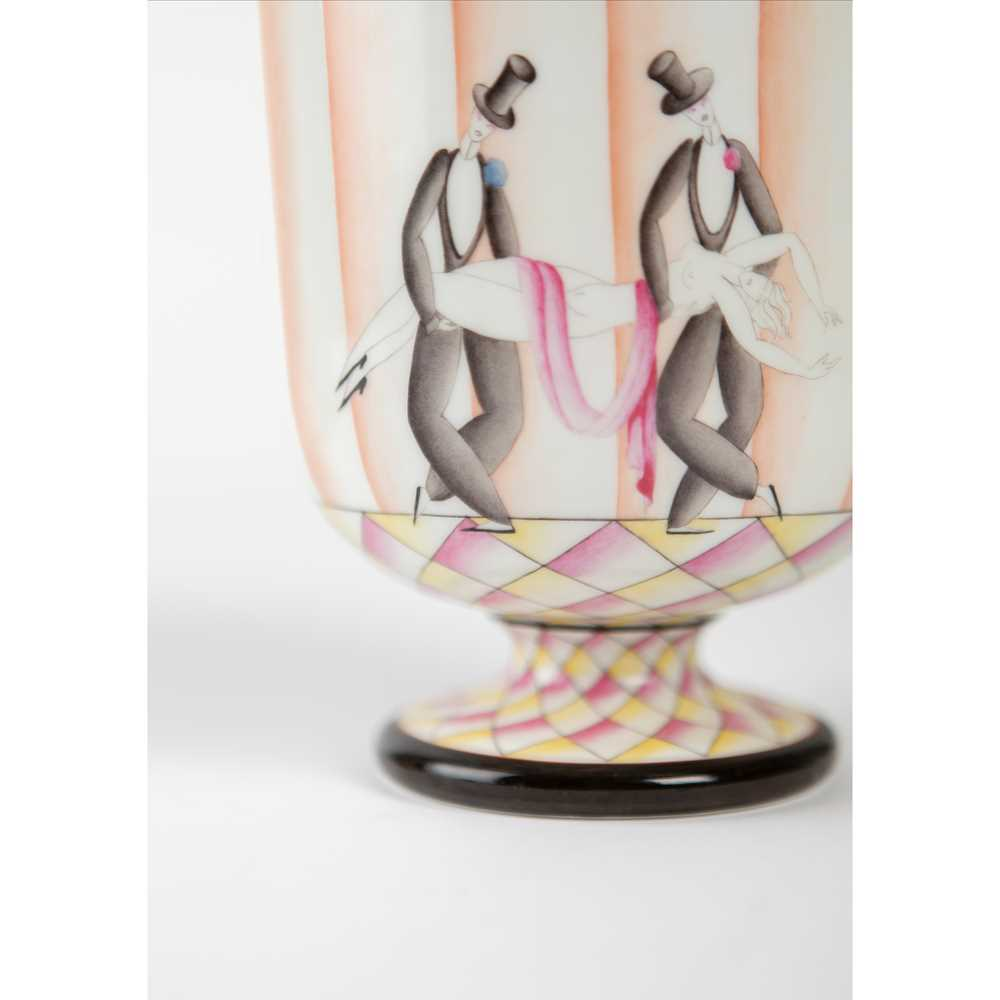 Gio Ponti (Italian 1891-1979) for Richard Ginori 'Funérailles de Thais' Footed Bowl - Image 2 of 9