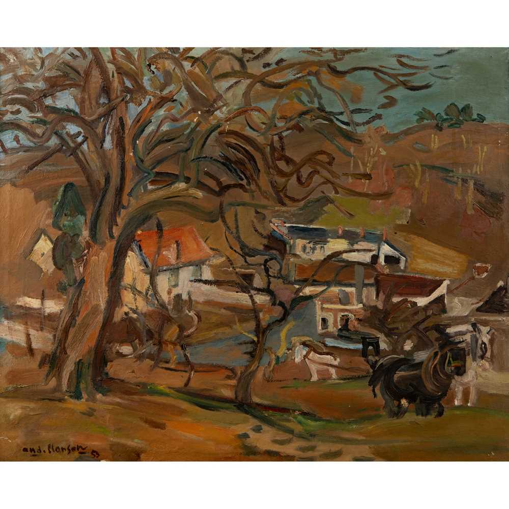 André Planson (French 1898-1981) Normandy Landscape, 1953