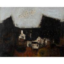 Louis Robert James (Australian 1920-1996) Landscape with White Houses, 1953