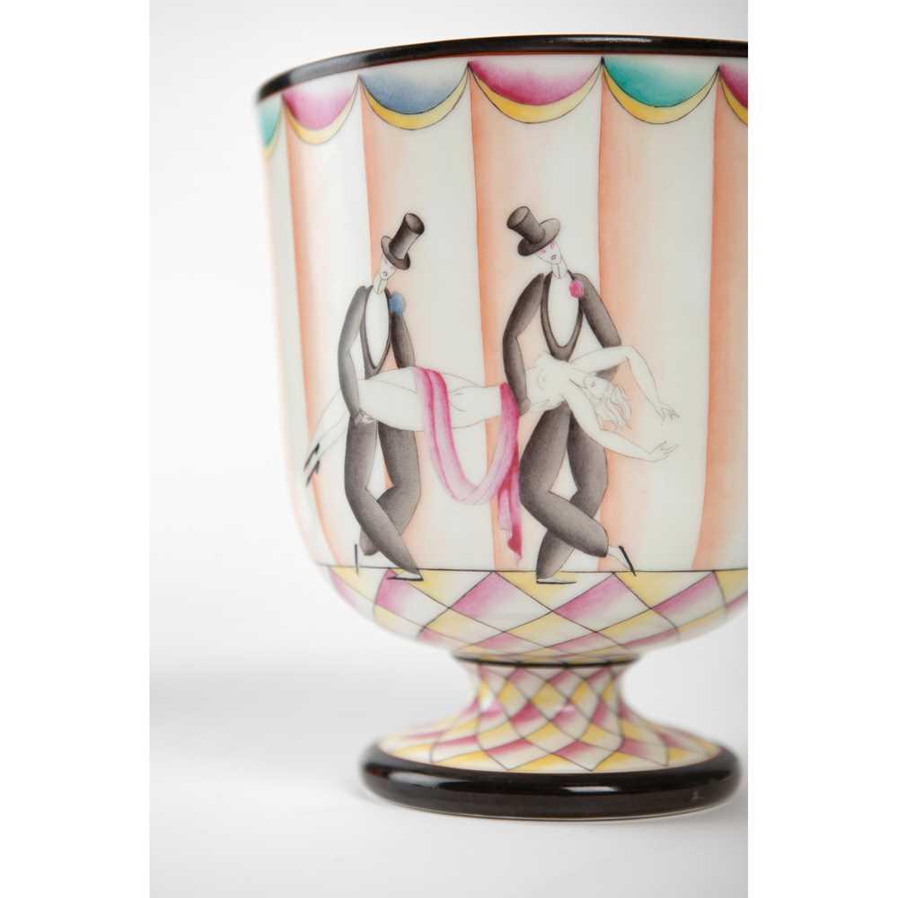 Gio Ponti (Italian 1891-1979) for Richard Ginori 'Funérailles de Thais' Footed Bowl - Image 3 of 9