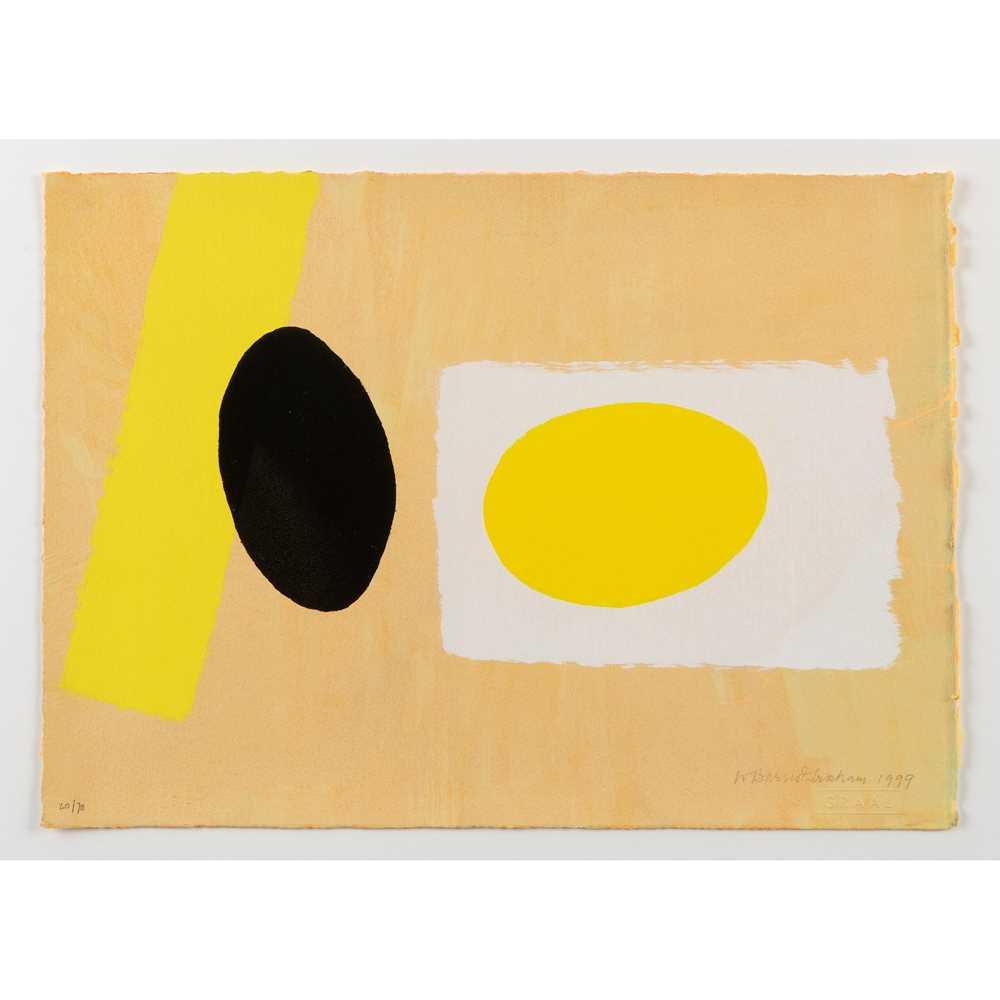 Wilhelmina Barns-Graham C.B.E. (Scottish 1912-2004) Orange and Lemon Playing Games II, 1999