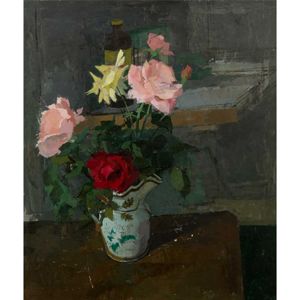 Heather Copley (British 1918-2001) Still Life of Roses, 1958