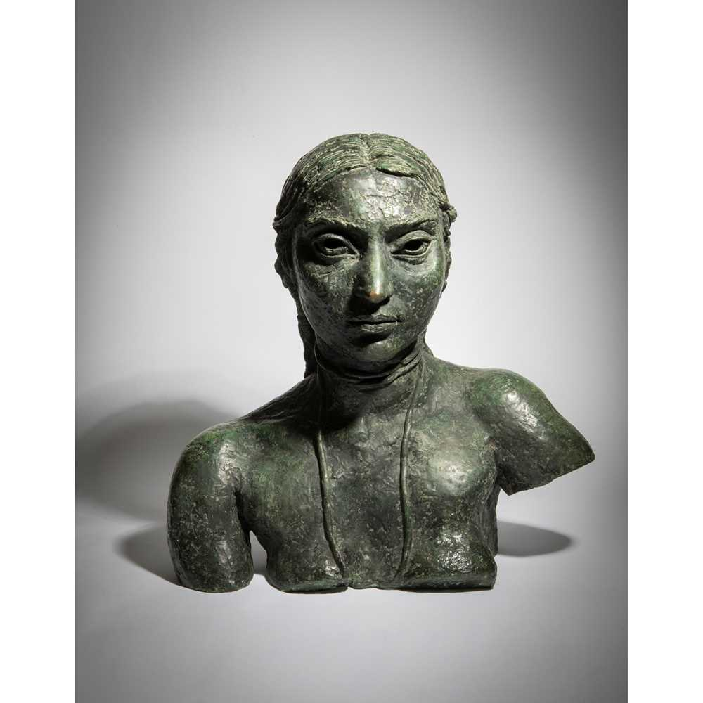 Sir Jacob Epstein K.B.E. (British 1880-1959) Third Portrait of Sunita (Bust with Necklace), conceive