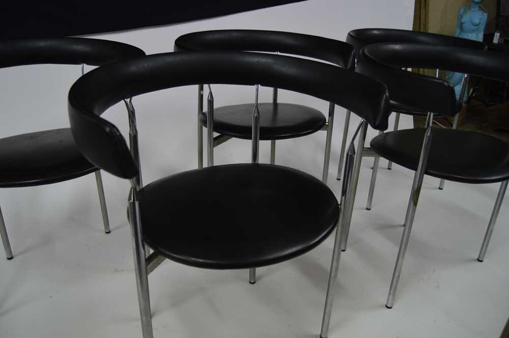 Jan Lunde Knutsen (Norwegian 1922-1990) for Karl Sorlie & Sons Set of Six 'Rondo' Chairs, designed 1 - Image 4 of 11
