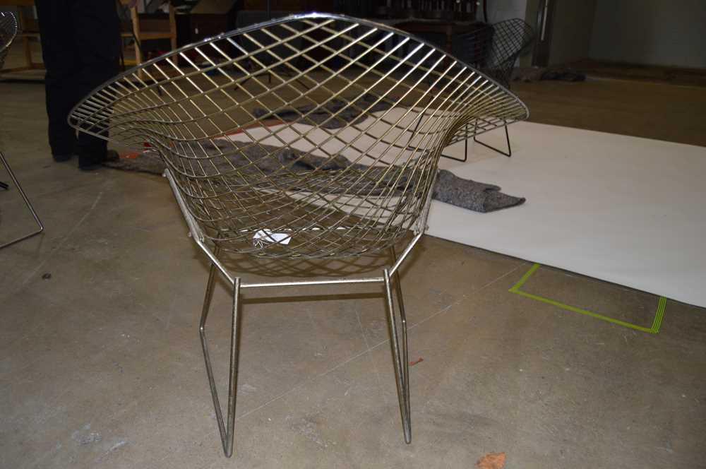 Harry Bertoia (American 1915-1978) Set of Four Diamond Chairs - Image 9 of 13
