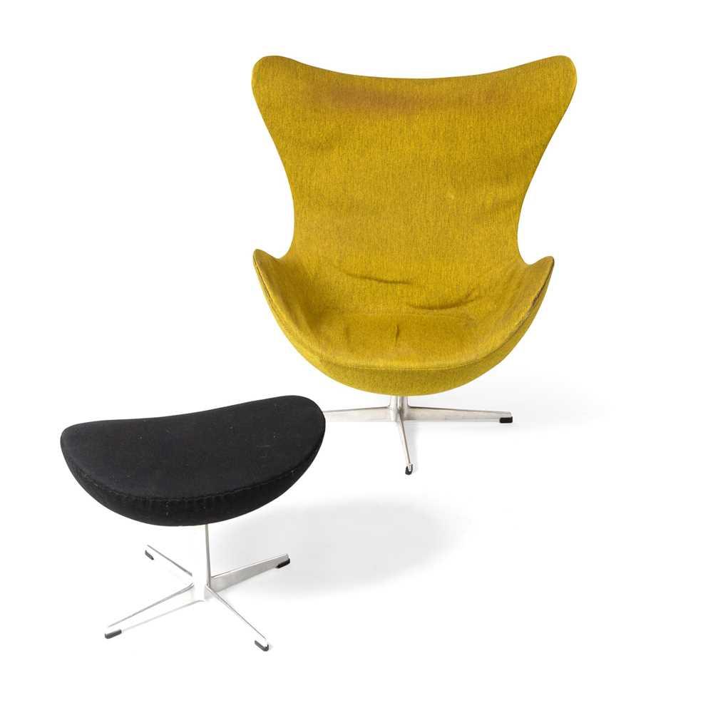 Arne Jacobsen (Danish 1902-1971) Egg Chair and Ottoman - Image 2 of 7