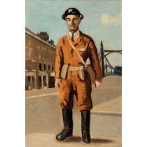Adrian Daintrey R.W.A. (British 1902-1988) The LSEA Warden