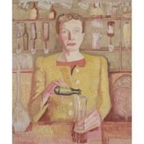 WILHELMINA BARNS-GRAHAM C.B.E. (BRITISH 1912-2004) PORTRAIT OF MRS. ROGERS - SLOOP INN, CIRCA 1945