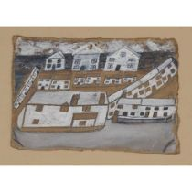 ALFRED WALLIS (BRITISH 1855-1942) HOUSES IN ST. IVES