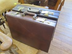 Two leather briefcases (2)