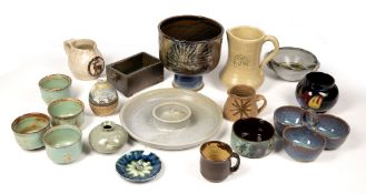 A COLLECTION OF STUDIO POTTERY to include Welsh and Scottish pottery Condition: four Skye pottery