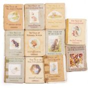CHILDREN'S BOOKS Potter (Beatrix) fourteen titles Peter Rabbit etc early editions plus Bannerman (
