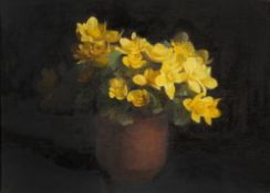 ERNEST TOWNSEND (LATE 19TH / EARLY 20TH CENTURY SCHOOL) Marsh Marigolds, oil on canvas board, signed