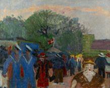 JENS SORENSEN (1887-1953, DANISH SCHOOL) The Fairground at Bakken Near Copenhagen, oil on canvas,