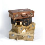 A GROUP OF FOUR SUITCASES At present, there is no condition report prepared for this lot This in