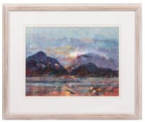 PETER CURRAN (1948) Lakes, 96, Winter, watercolour, 40cm x 54cm, signed in pencil lower right,