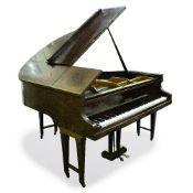 A BOUDOIR GRAND PIANO by Bulhoff with mahogany case, numbered to the case 63135, 147cm wide x