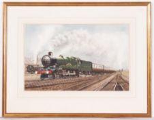 GRAHAM WILLIAMS (LATE 20TH CENTURY ENGLISH SCHOOL) Great Western Railway Locomotive 4081 Warwick
