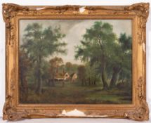 JOHN WESTALL (1873-1893) Woodland House, oil on canvas, 44cm x 59cm, signed and dated 1879 lower