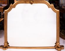 A LATE 19TH CENTURY GILDED OVERMANTLE MIRROR 157cm wide x 119cm high Condition: some minor losses,