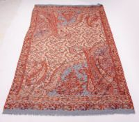 A PAISLEY TYPE SHAWL 100cm x 200cm Condition: in good condition