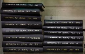 FOURTEEN VOLUMES OF CONTINENTAL RAILWAY JOURNAL Condition: no dust wrappers, minor marks