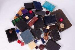 A COLLECTION OF ANTIQUE AND LATER JEWELLERY BOXES and cutlery boxes Condition: in mixed condition