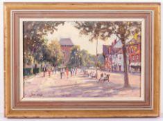 JOHN NEALE (20TH CENTURY ENGLISH SCHOOL) Waterside, Stratford upon Avon, oil on board, signed