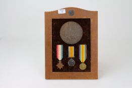 A TRIO OF WORLD WAR I MEDALS 1914-15 Star, The British War Medal and the Victory Medal together with