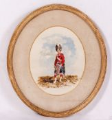 ORLANDO NORIE (1831-1901) An Officer from a Highland Regiment, watercolour, signed lower left,