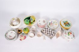 A COLLECTION OF CONTINENTAL TIN GLAZED POTTERY to include plates and a part Luneville pottery